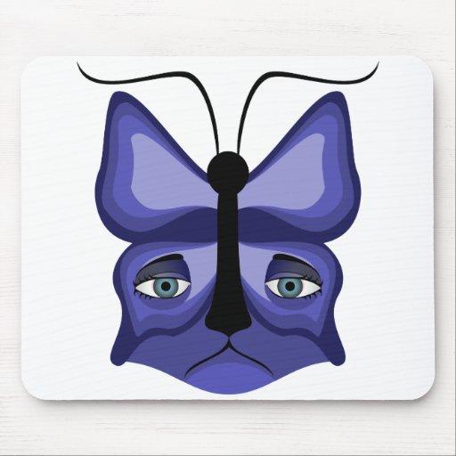 Blue Meow Mask Mousepad