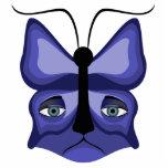Blue Meow Mask Photo Sculpture