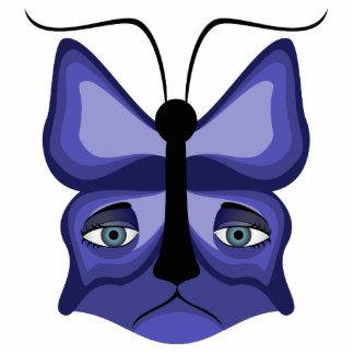 Blue Meow Mask Photo Sculpture Ornament