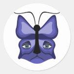 Blue Meow Mask Sticker