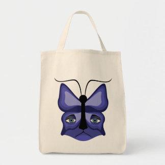 Blue Meow Mask Tote Bag