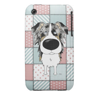 Blue Merle Aussie Quilt iPhone 3 Covers