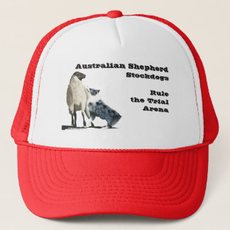Blue Merle Aussie Stockdog Trucker Hat