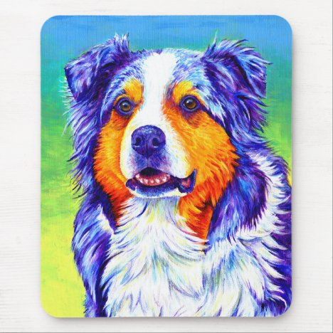 Blue Merle Australian Shepherd Dog Mouse pad