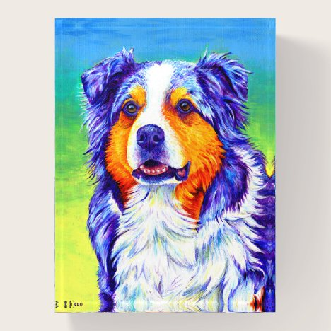 Blue Merle Australian Shepherd Dog Paperweight