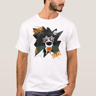 Blue Merle Australian Shepherd Halloween Vampire T-Shirt
