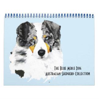 Blue Merle Australian Shepherd Two Page M.Calendar Calendar