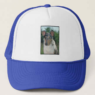 Blue Merle Collie Smooth Coat Trucker Hat