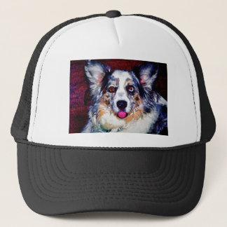 Blue Merle Dog Trucker Hat