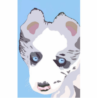 Blue Merle puppy Statuette