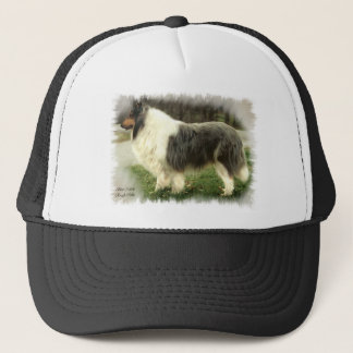 Blue Merle Rough Collie Art Gifts Trucker Hat