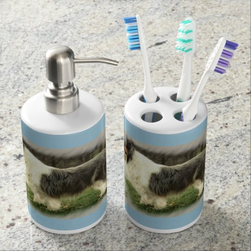 Zazzle Blue Merle Rough Collie Gifts Soap Dispenser And T...