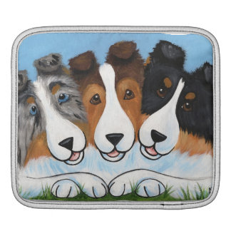 Blue Merle, Sable, Tri color Shelties Sleeve For iPads