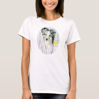 Blue Merle Sheltie Bath T-Shirt