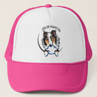 Blue Merle Sheltie IAAM Trucker Hat