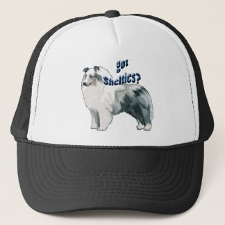 Blue Merle shetland Sheepdog Trucker Hat