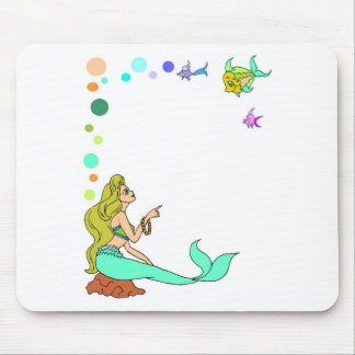 blue mermad, pretty, princess. mouse pad