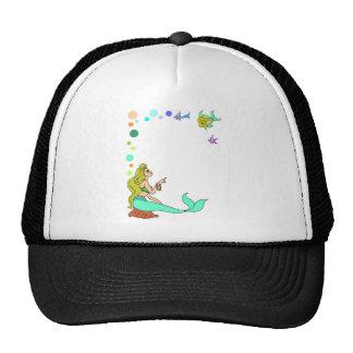 blue mermad, pretty, princess. trucker hat