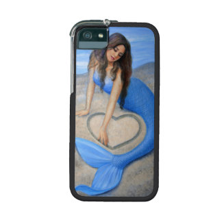 Blue Mermaid Heart iPhone 5 Case