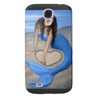 Blue Mermaid s Heart Samsung Galaxy S4 Cover