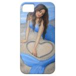 Blue Mermaid 's Heart Fantasy Art iPhone 5 Case