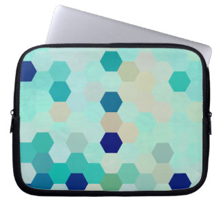Blue Mermaid Scales Colorful Octagon Multicolored Computer Sleeve
