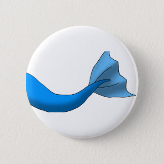 Blue Mermaid Tail Button