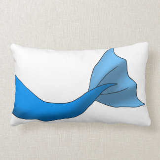 Blue Mermaid Tail Lumbar Pillow