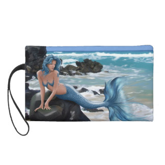Blue Mermaid Wristlet