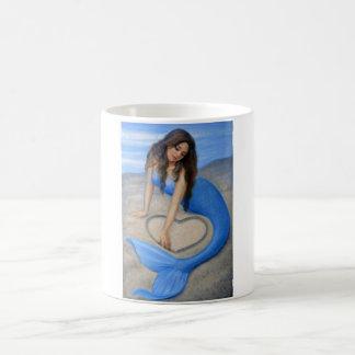 Blue Mermaid's Heart Coffee Mug