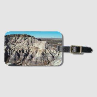 Blue Mesa Badlands Desert Landscape Photo Bag Tag