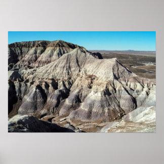 Blue Mesa Badlands Desert Mountains Poster