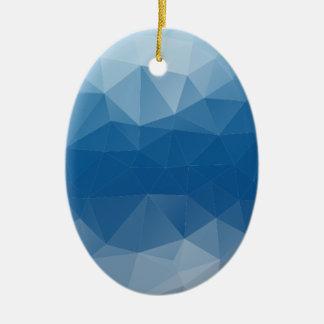 Blue mesh ceramic ornament