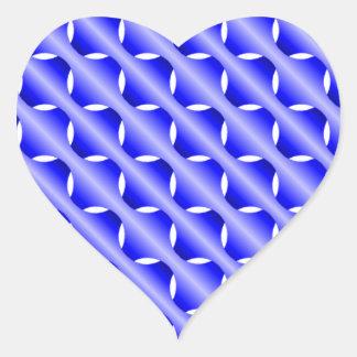 Blue Mesh Heart Sticker