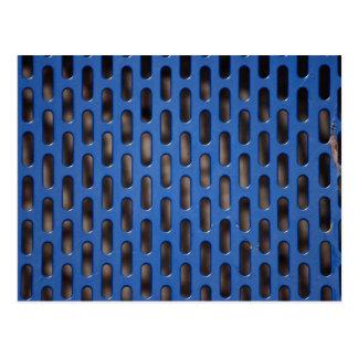 Blue mesh postcard