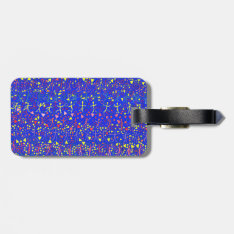Blue Message Bag Tag at Zazzle