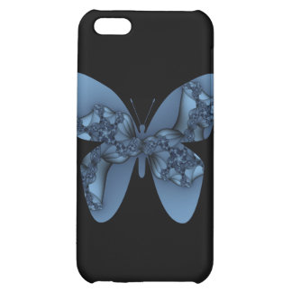 blue metal butterfly i iPhone 5C cases