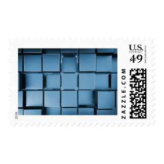 Blue Metal Cubes With Back Light Postage