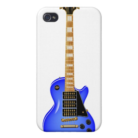 Blue Metal Electric Guitar iPhone 4/4S Covers