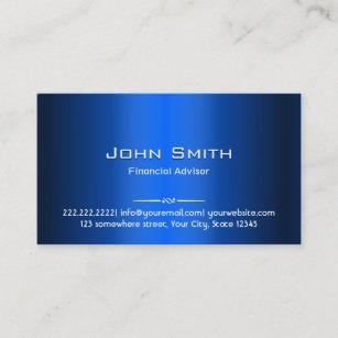 Financial business cards templates zazzle blue metal financial advisor business card colourmoves