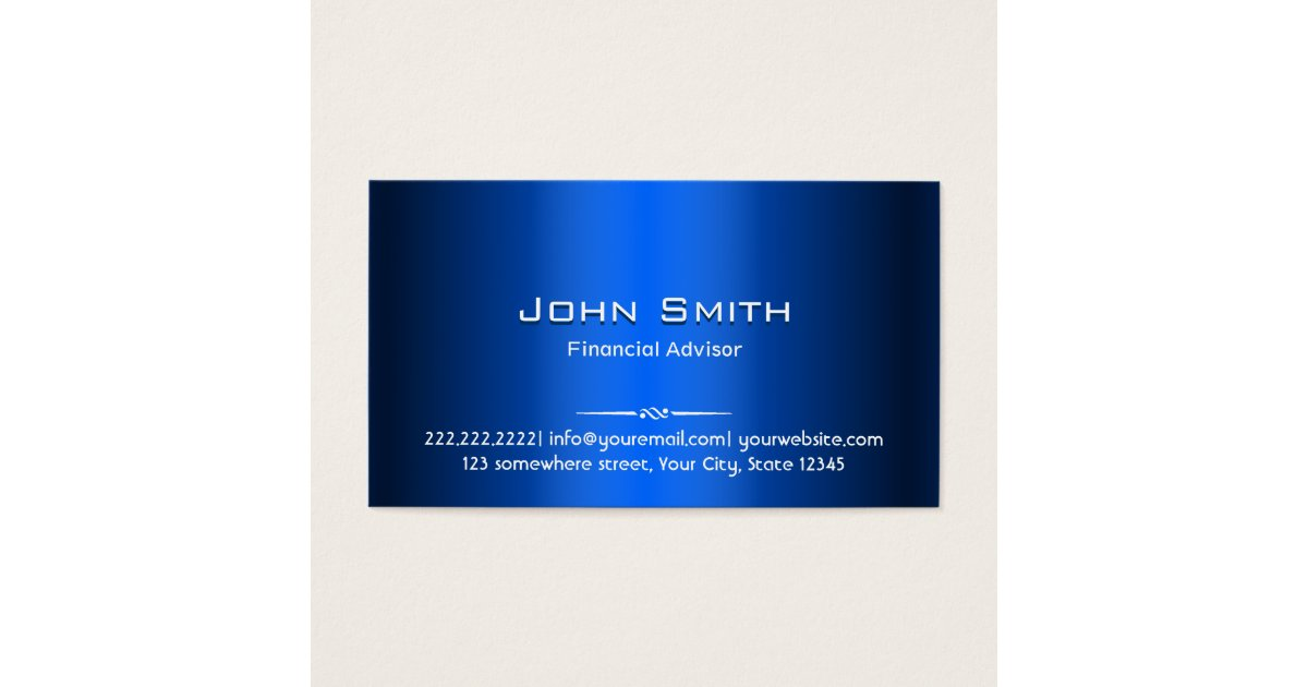 Financial Advisor Business Cards & Templates | Zazzle