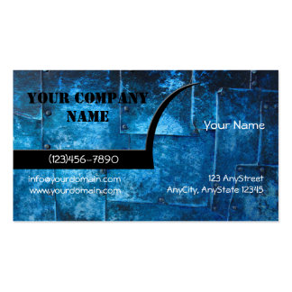 Blue Metal Plates Business Card