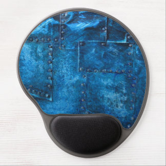blue metal plates gel mouse mats