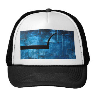 Blue Metal Plates Mesh Hats