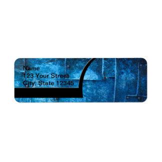 Blue Metal Plates Label