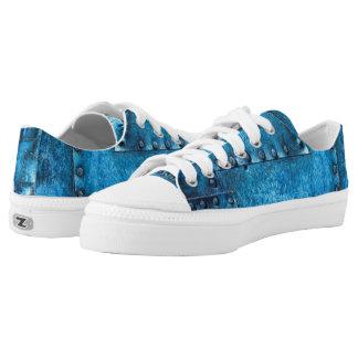 Blue Metal Riveted shoes of fun! Very Fun!