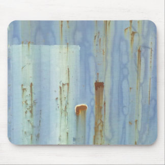 Blue Metal Wall Mouse Pad