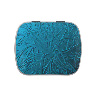 Blue Metallic Air Plant Relief Candy Tin