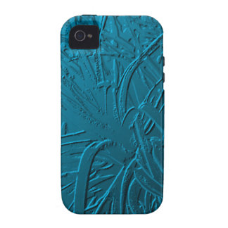 Blue Metallic Air Plant Relief Vibe iPhone 4 Cases