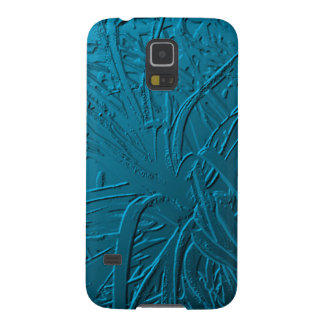 Blue Metallic Air Plant Relief Case For Galaxy S5
